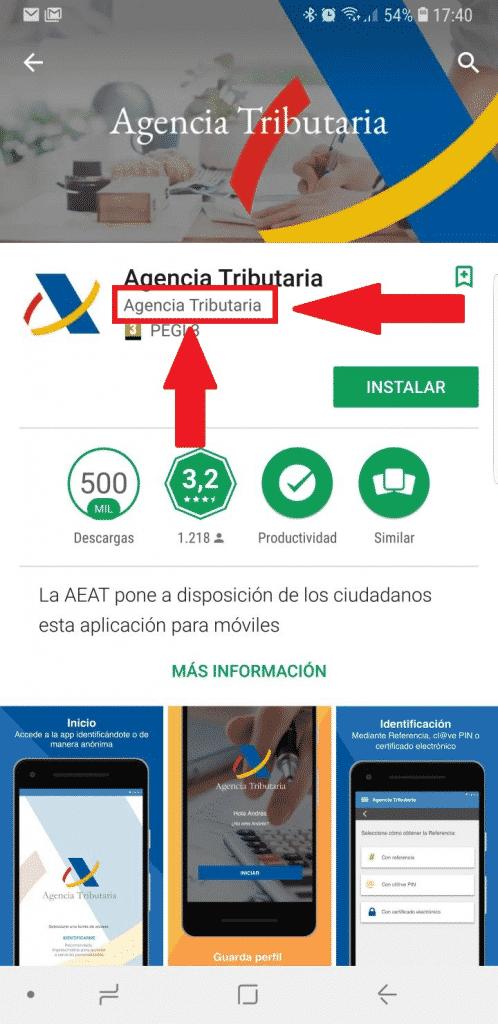 desarrollador app
