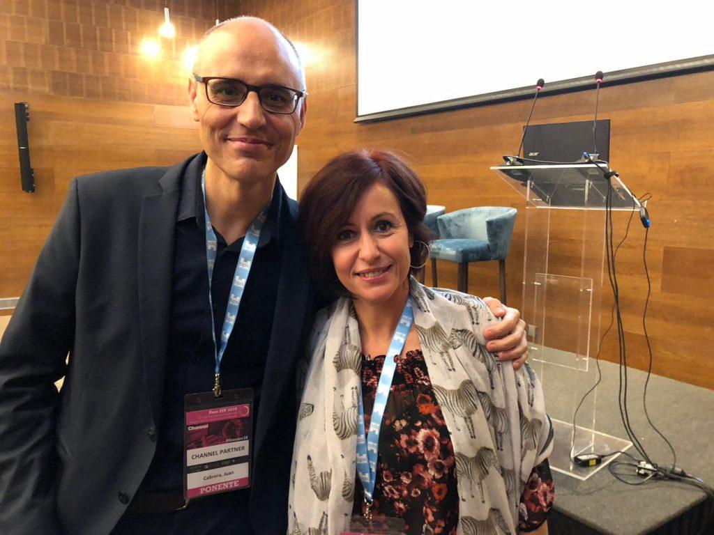 Juan Cabrera y Eva Conesa