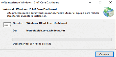 Instalación Windows 10 IoT dashboard