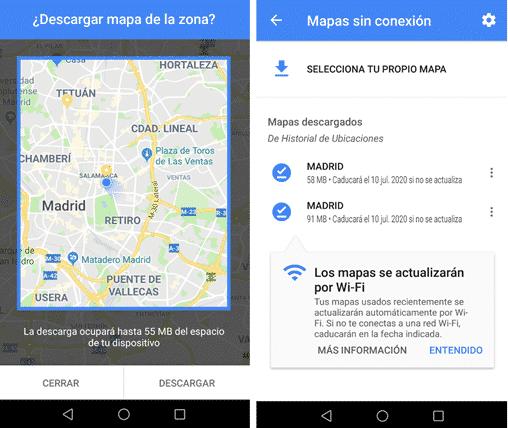 geolocalizacion google maps guardar mapas